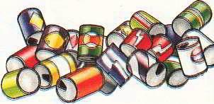 Для переработки алюминиевых банок необходимо в 20 раз меньше энергии, чем для производства нового алюминия