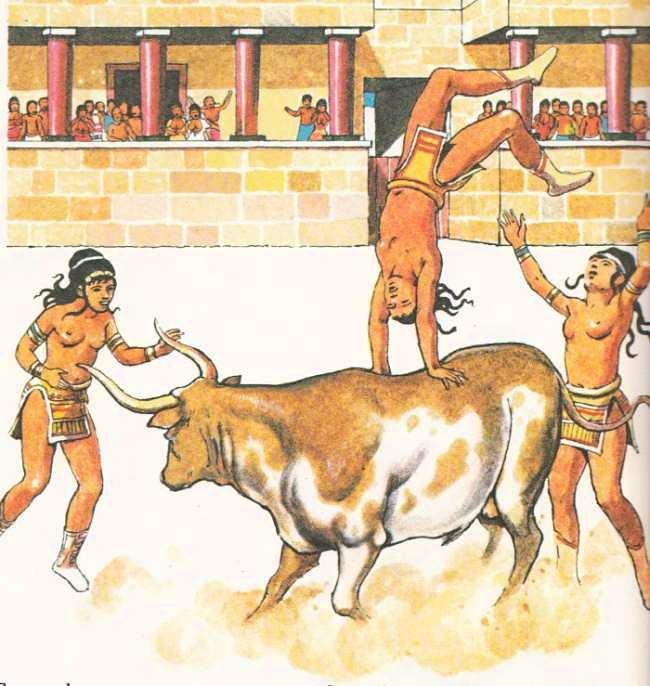 Картинки по запросу прыжки через быка на крите картинки