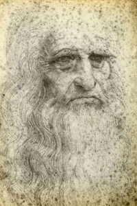 Автопортрет Леонардо да Винчи, выполненные в 1512г