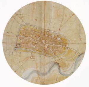Леонардо да Винчи - Точная карта Имола, 1502