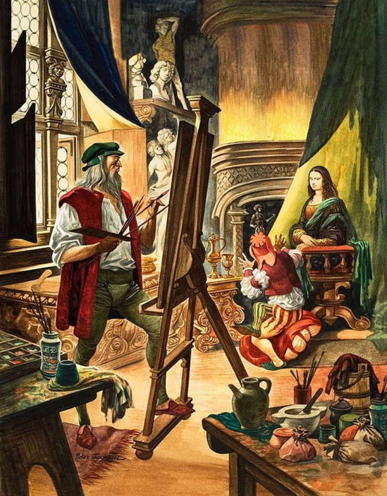 Леонардо и Лиза Герардини в студии