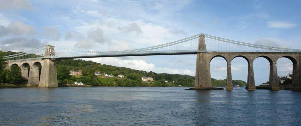 Висячий мост через Менай проект Томаса Телфорда